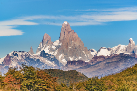 Beautiful patagonian andes range landscape with famous Fitz Roy mountain at Santa Cruz province - Argentina