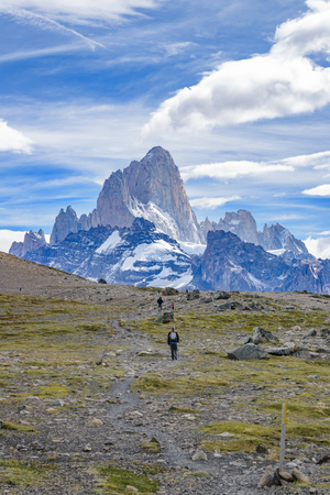 roy: Beautiful patagonian andes range landscape with famous Fitz Roy mountain at Santa Cruz province - Argentina