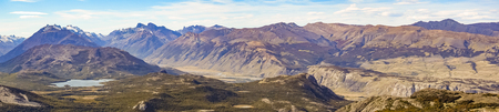 Landscape panoramic patagonia mountains at El Chalten town, Argentina Stock Photo