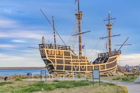 Nao Victoria replica ship monument museum located at Puerto San Julian, Argentina
