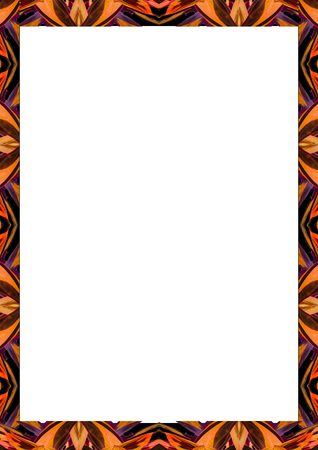 White frame background with decorated design borders. 写真素材