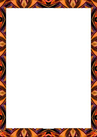 White frame background with decorated design borders. Archivio Fotografico