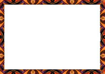 White frame background with decorated design borders. 版權商用圖片 - 80151764