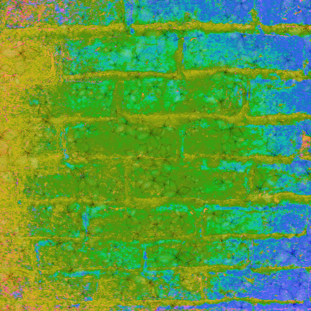 Abstract brick wall texture background in vibrant colorful tones