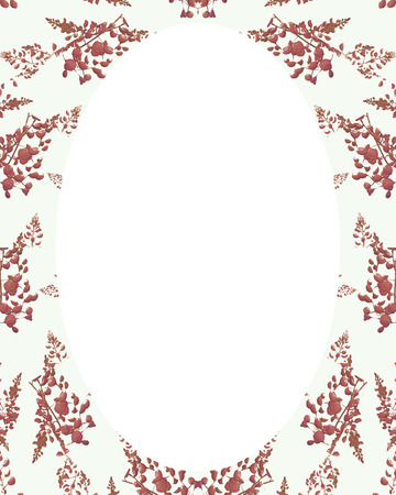 chinoiserie: White circle frame background with decorated design borders