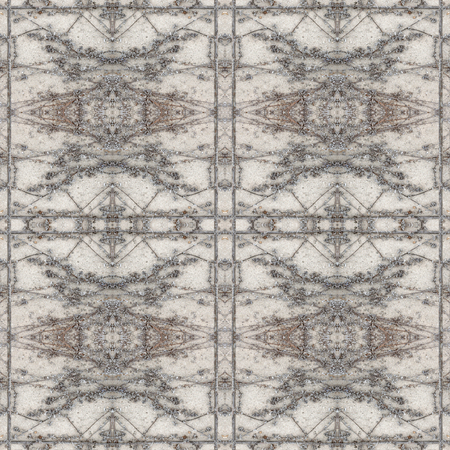 Digital photo manipulation technique ornate seamless pattern design in grey colors