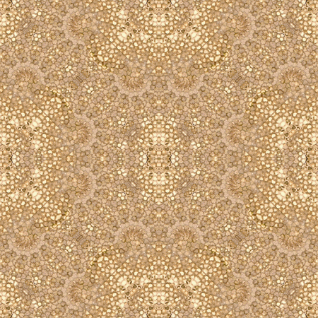 Digital collage technique oriental style ornate seamless pattern design in brown and golden tones Stock Photo