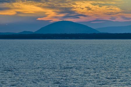Landscape scene from punta ballena, Uruguay Stock Photo
