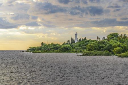 Coastal landscape scene at Colonia city, Uruguay Imagens - 87756982