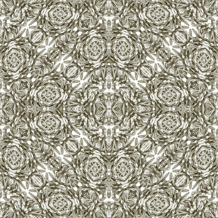 Modernes barockes aufwändiges nahtloses Mustermosaikdesign der Digitalcollagen-Technik in den silbernen Tönen Standard-Bild - 88272426