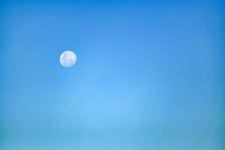 Moonscape day scene with clean blue sky background