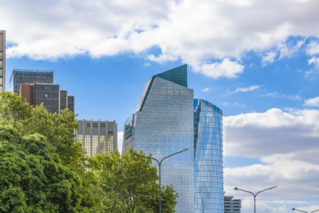 Low angle view of contemporary buildings at Buenos Aires city, Argentina