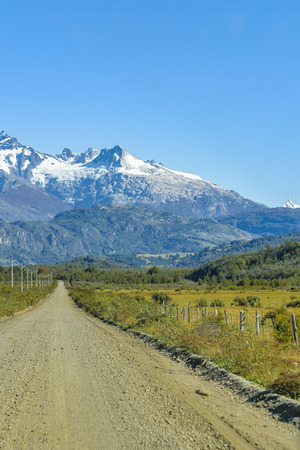 Patagonia landscape view through austral route, Aysen district, Chile Stock Photo