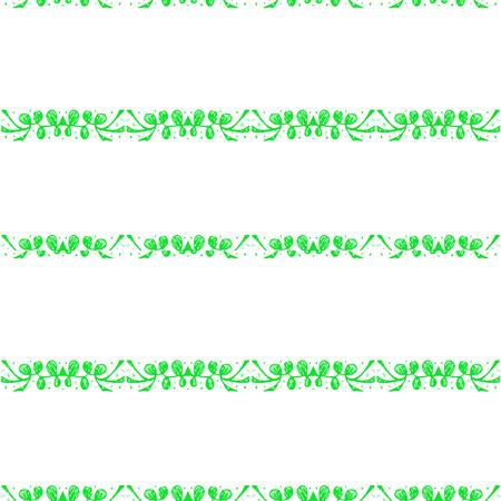 Design semplice senza cuciture motivo a strisce di foglie stilizzate nei colori verde e bianco Archivio Fotografico - 91915257