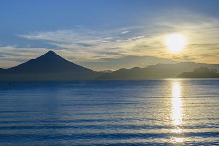 Osorno volcano landscape scene at patagonian territory, Chile