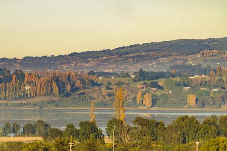 Landscape of Castro city at Chiloe island, Chile