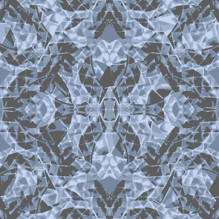 Digital abstract geometric seamless pattern design in blue colors Banco de Imagens