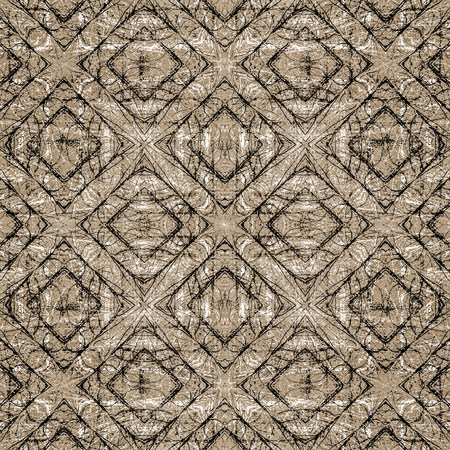Digital abstract geometric seamless pattern background design in brown colors