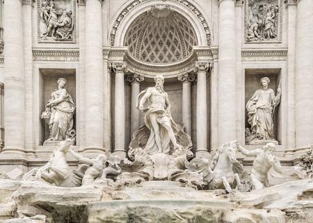 Baroque bernini´s masterpiece fontana di trevi at Rome city, Italy