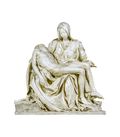 La pieta sculpture, one of the most famous michelangelo masterpiece artwork located in st peters bailisica at Vatican city.