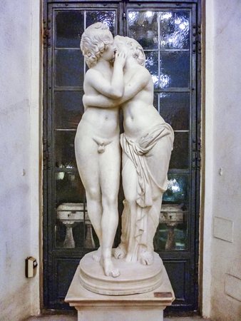 ROME, ITALY, DECEMBER - 2017 - Famous eros and psyche sculpture at capitoline museum, Rome, Italy Editorial