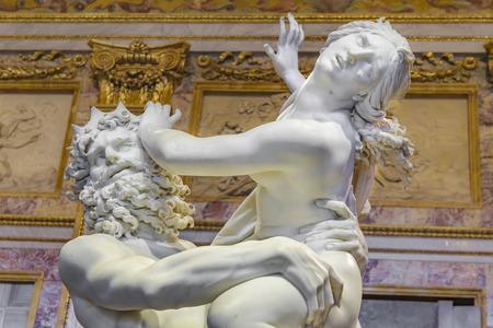 ROME, ITALY, JANUARY - 2018 - Rape of Proserpina, a famous baroque bernini masterpiece located at Villa Borghese gallery, Rome, Italy