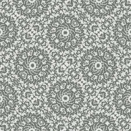 Digital art technique retro vintage ornate decorative seamless pattern design in gray colors