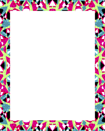 White Frame Background With Decorated Design Borders. Stock Photo ...