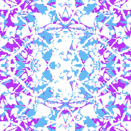 Digital art technique modern complex intricate abstract decorative seamless pattern desgin in vivid and saturated mixed tones.