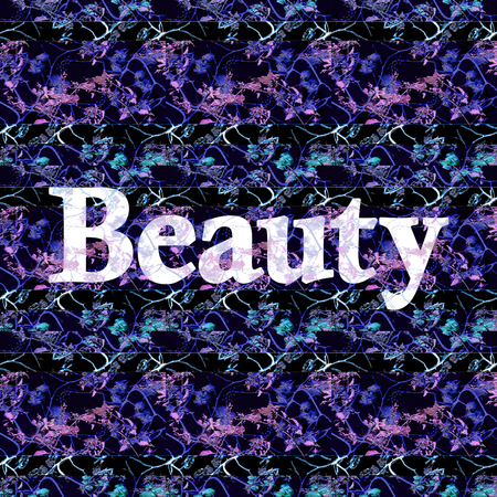 Beauty text design over chinoiserie style floral background Stock Photo