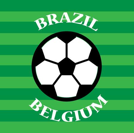 Brazil versus Belgium soccer match template design