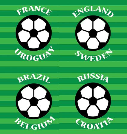 quarter finals soccer matches template design background Stock Photo