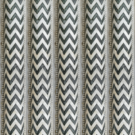 Digital technique italian columns stripes pattern design in dull green and grey tones