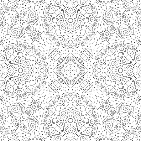 Digital collage technique ornate seamless pattern design in Stock Photo