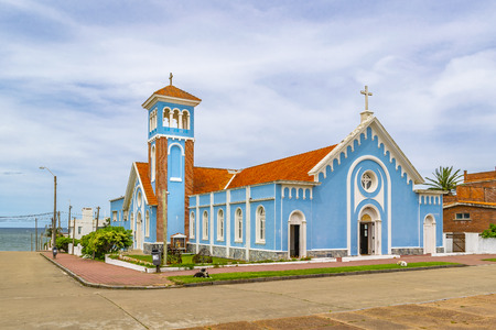 Exterior view of most important catholic church of punta del este city, Uruguay