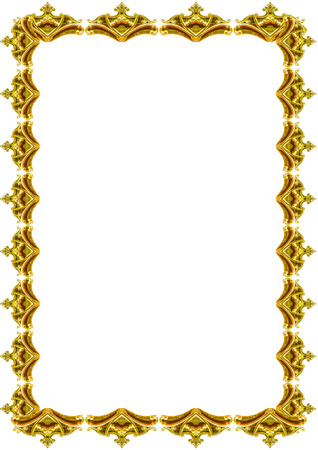 White frame background with decorated design golden borders.
