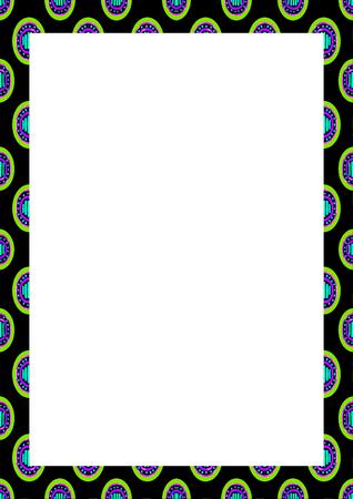 White frame background with decorated design borders. Reklamní fotografie
