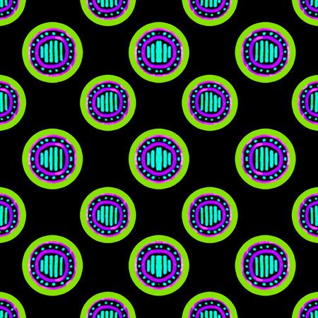 Circles shape motif modern seamless pattern design in dark tones