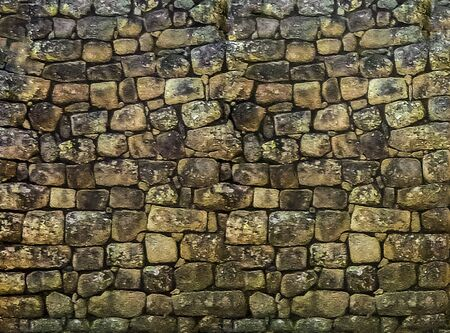 Ancient stone patterned wall photo background Stock fotó