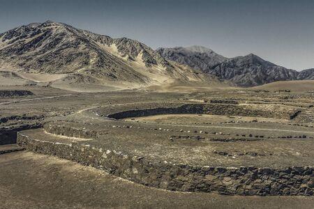 Caral était la capitale de la civilisation Caral, est située dans la vallée de Supe au nord de Lima et est considérée comme la plus ancienne civilisation d'Amérique.