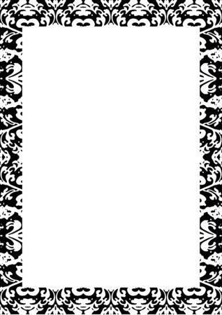 Witte kaderachtergrond met verfraaide ontwerpgrenzen. Stockfoto