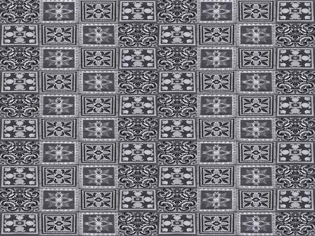 Ceramic tiles collage seamless pattern design in silver mixed tones Standard-Bild - 128202695