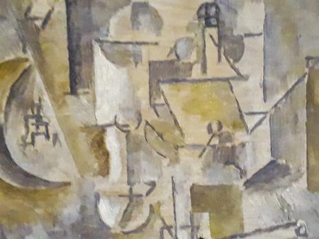 MONTEVIDEO, URUGUAY, JUNIO - 2019 - Vista detallada de cerca de la obra de arte de picasso exhibida en el museo nacional de arte de uruguay