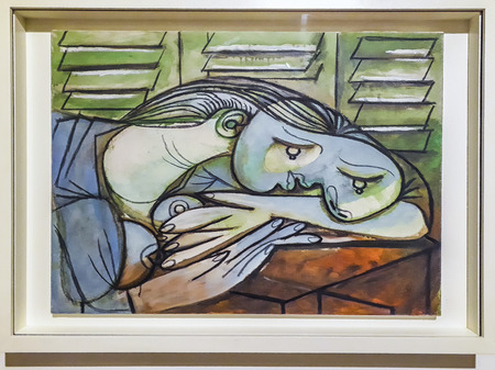 MONTEVIDEO, URUGUAY, JUNE - 2019 - Picasso artworks exhibited at national art museum of uruguay Editorial