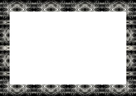 White frame background with decorated design borders. Imagens