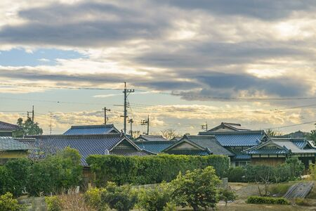 Traditional houses at yamaguchi neighborhood prefecture, japan Imagens