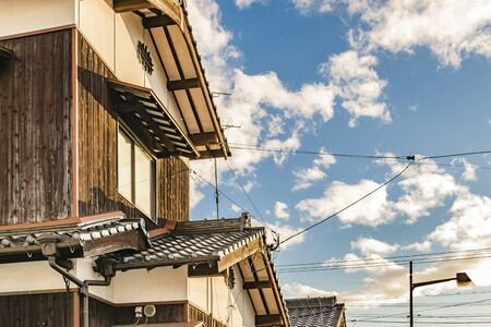 Perspective view exterior facade of traditional houses at yamaguchi prefecture, japan Imagens