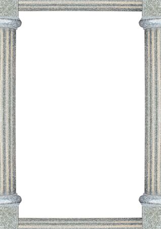 White frame background with decorated design column borders. 版權商用圖片