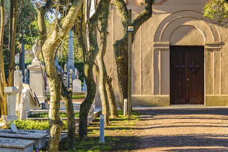 Private small cemetery at montevideo city, uruguay