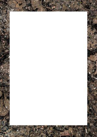 White frame background with decorated design borders. Zdjęcie Seryjne